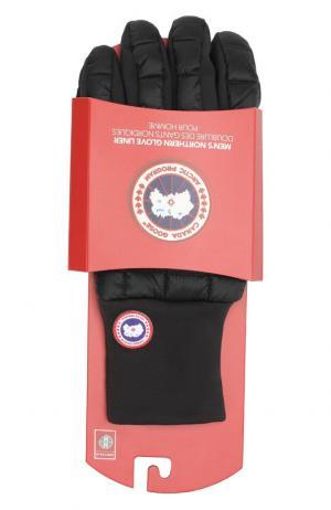 Пуховые перчатки Canada Goose. Цвет: черный
