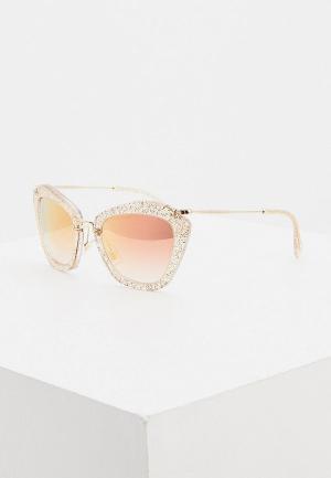 Очки солнцезащитные Miu. Цвет: бежевый