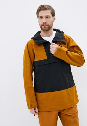 Куртка утепленная The North Face. Цвет: коричневый