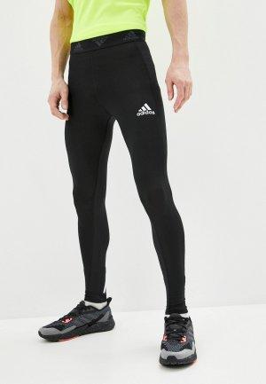 Тайтсы adidas. Цвет: черный