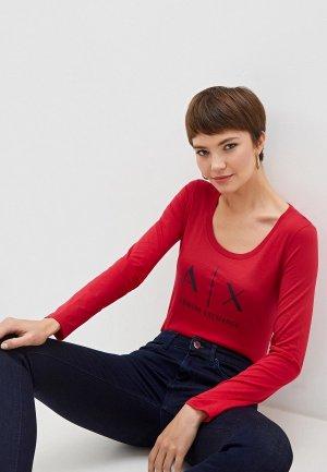 Лонгслив Armani Exchange. Цвет: красный