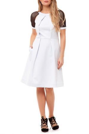 Платье Gloss. Цвет: светло-серый