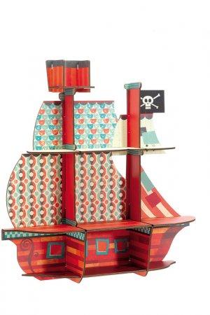 Пазл Пиратский корабль Djeco. Цвет: оранжевый