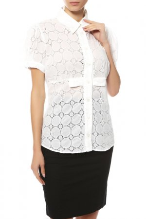 Блуза CLIPS MORE. Цвет: белый