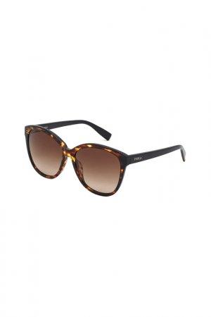 Солнцезащитные очки FURLA. Цвет: черепаховый