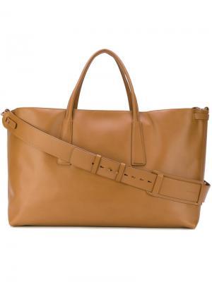 Большая сумка-тоут Zanellato. Цвет: коричневый