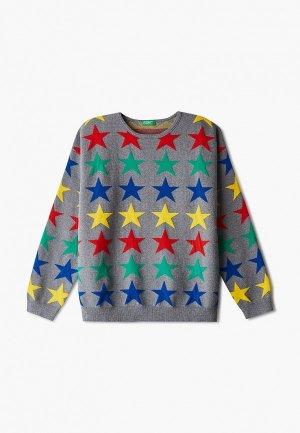 Джемпер United Colors of Benetton. Цвет: серый