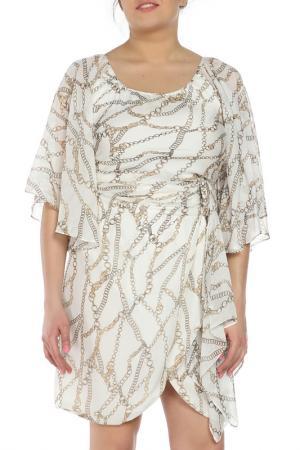 Платье Braude. Цвет: белый