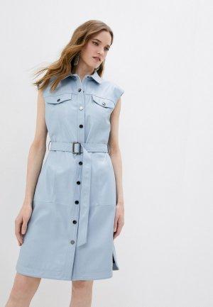 Платье Karl Lagerfeld. Цвет: голубой