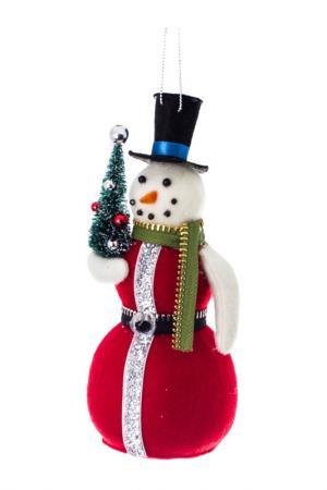 Снеговик в красной шубке Creative. Цвет: красный