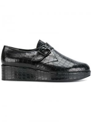 Ботинки-монки на платформе Robert Clergerie. Цвет: чёрный