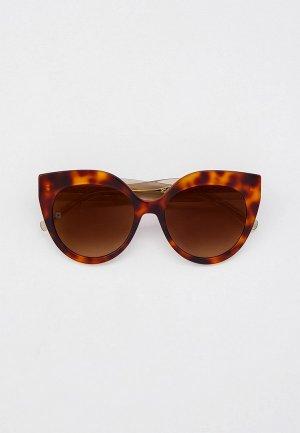 Очки солнцезащитные Elie Saab. Цвет: коричневый