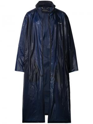 Дождевик с принтом Balenciaga. Цвет: синий