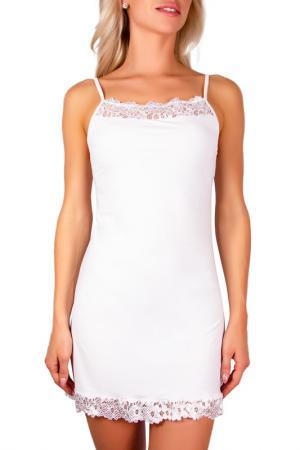 Ночная сорочка LUCE DEL SOLE. Цвет: белый
