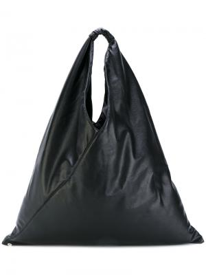 Большая сумка-тоут Mm6 Maison Margiela. Цвет: чёрный