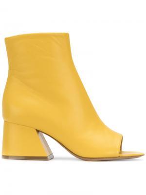 Ботильоны с открытым носком Maison Margiela. Цвет: жёлтый и оранжевый