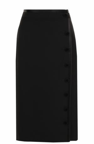 Шерстяная юбка-миди Altuzarra. Цвет: черный