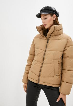 Куртка утепленная b.young. Цвет: бежевый