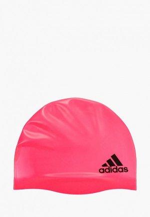 Шапочка для плавания adidas. Цвет: розовый