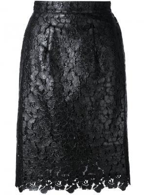 Кружевная юбка House Of Holland. Цвет: чёрный