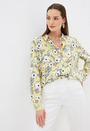 Блуза Ichi. Цвет: желтый