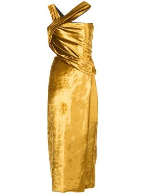 Приталенное платье-миди Jason Wu. Цвет: жёлтый и оранжевый