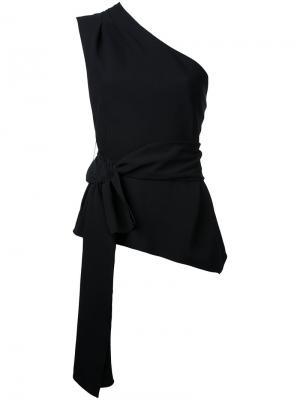 Топ на одно плечо Narciso Rodriguez. Цвет: чёрный