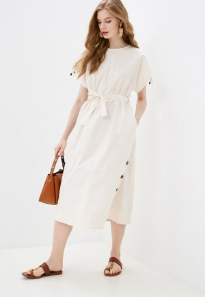 Платье Cappellini. Цвет: бежевый