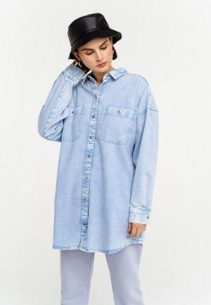 Рубашка джинсовая Befree. Цвет: голубой
