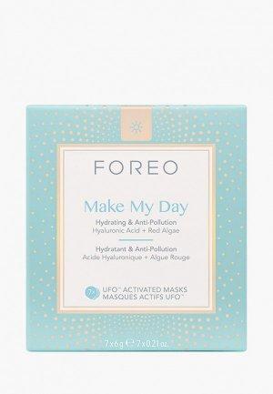 Набор масок для лица Foreo. Цвет: прозрачный
