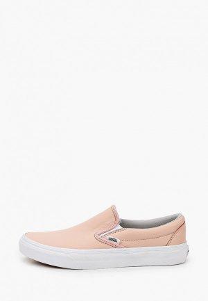 Слипоны Vans. Цвет: розовый