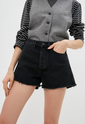 Шорты джинсовые 3x1. Цвет: черный