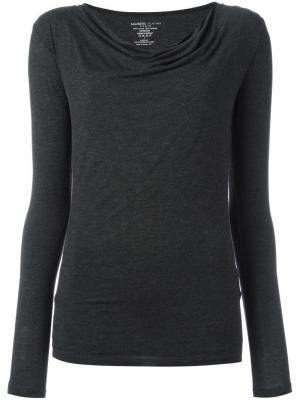 Блузка с асимметричными плечами Majestic Filatures. Цвет: серый