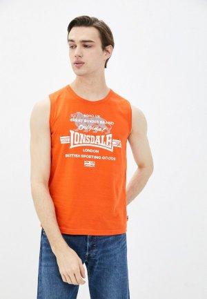 Майка Lonsdale. Цвет: оранжевый
