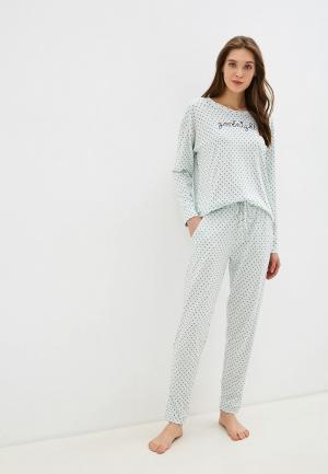 Пижама NYMOS. Цвет: бирюзовый