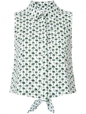 Рубашка с пальмовым принтом Milly. Цвет: белый