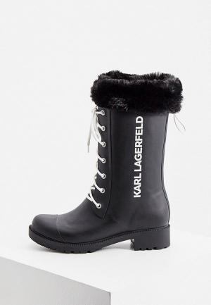 Резиновые сапоги Karl Lagerfeld. Цвет: черный