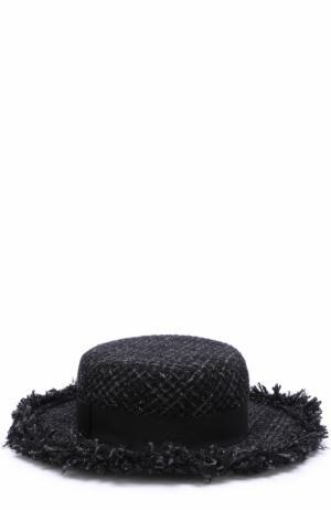 Буклированная шляпа Eugenia Kim. Цвет: черный