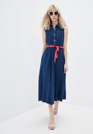 Платье джинсовое Liu Jo. Цвет: синий