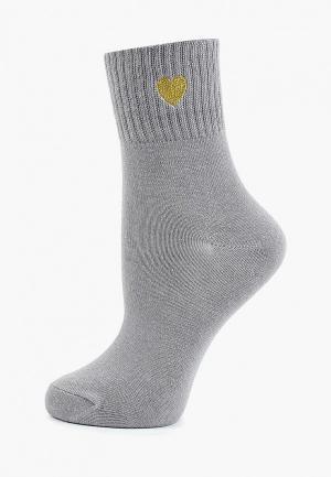 Носки Befree. Цвет: серый