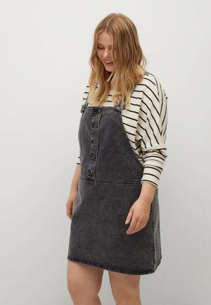 Платье джинсовое Violeta by Mango. Цвет: серый