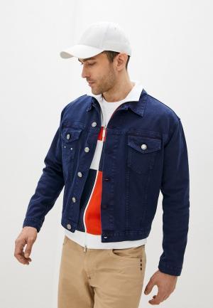 Куртка джинсовая Bikkembergs. Цвет: синий