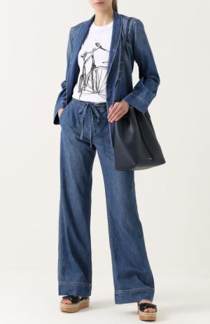 Джинсовый брючный костюм с потертостями Equipment. Цвет: синий