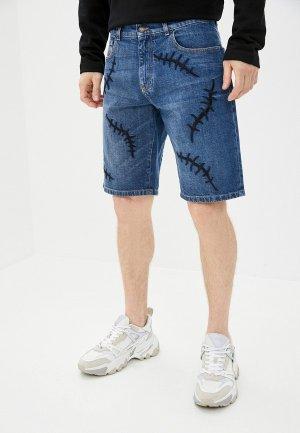 Шорты джинсовые Moschino Couture. Цвет: синий