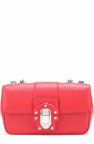 Сумка Lucia small на цепочке Dolce & Gabbana. Цвет: красный