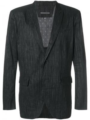 Тканый пиджак на пуговицах John Varvatos. Цвет: чёрный