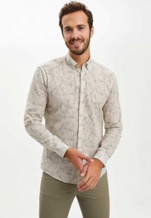 Рубашка DeFacto. Цвет: бежевый