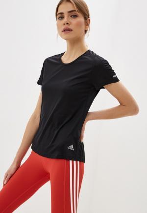 Футболка adidas. Цвет: черный