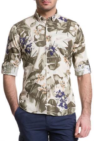 Рубашка CACHAREL. Цвет: vr079 зеленый