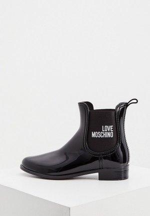 Резиновые полусапоги Love Moschino. Цвет: черный